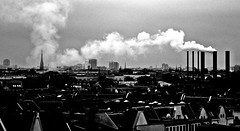 The city (PattyK.) Tags: city trip travel summer vacation blackandwhite berlin june germany landscape photography nikon europa europe view smoke capital thecity citycenter chimneys europeanunion myphotos 2012 urbanlandscape blackandwhitephotography deutchland urbanfragments inthecity beautifulcity amateurphotographer     girlphotographer  lovelycity       pattyk    nikoncoolpixs220   ipiccy  pkostar