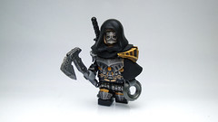 Assassin : DisCreed ([N]atsty) Tags: shadow black dark gold amazing lego killer ama axe ba minifig custom armory creed minifigure assassins brickarms
