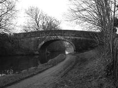 Lancaster Canal Bridge 115 [2] (Ian R. Simpson) Tags: bridge bw canal towpath lancastercanal bridge115