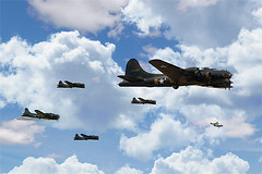 Limping Home (Airpower Art) Tags: flying war europe wwii b17 ww2 bomber usaf fortress