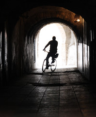 (atomareaufruestung) Tags: africa door old light abandoned window lamp bike bicycle silhouette backlight sunrise vintage underpass underground ventana surf alt january pedestrian tunnel surfing atlantic enero morocco afrika atlanticocean essaouira marokko gegenlicht morgens underbridge 2013 imsouane assawirah