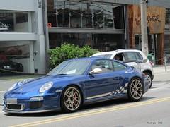 Porsche 911 GT3 RS - 997 MkII -  Aqua Blue Metallic (Rodrigo Cardoso Photography) Tags: blue cars avenida aqua europa metallic 911 porsche rs braz supercars gt3 superesportivo