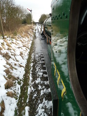 777 Sir Lamiel From The Footplate @ GCR (gooey_lewy) Tags: from trip winter train arthur track king ride great central railway double steam southern locomotive preserved sir railways 777 gala preservation n15 the footplate 460 mainline gcr lswr lamiel
