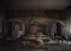 boudoir  ( explore ) (andre govia.) Tags: world urban abandoned film hat canon buildings hospital out dead death photo bed bedroom mess closed dress photos decay exploring explorer ghost down images andre haunted creepy business urbanexploration trespass horror ghosts clinic left cinematic derelict decayed barr ue roseanne closeddown urbex bounds decayedbuildings govia andregovia