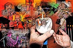 Place Aux Artistes (Jean-marc17340) Tags: art collage composition montage concerts affiche artistes musiciens cration