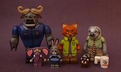 Zootopia (TheMooseFigs) Tags: lego minifigure zootopia bogo nick wilde judy hopps