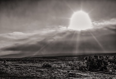 Alien Lanscape (basselal) Tags: bigisland clouds lavarocks bw hawaii pahoehoe monochrome sun travel 100xthe2016edition 100x2016 image13100