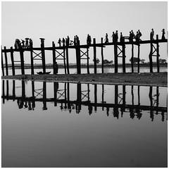 B&W Asian Collection 2 (DepictingPhotos) Tags: burma mandalay bridges