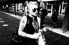 Untitled (nzkphotography) Tags: 2016 dublin ireland street europe streetphotography ricohgr 28mm noiretblanc blackandwhite monochrome highcontrast seriouscompacts travel people tattoo girl