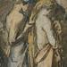 CHASSERIAU Théodore,1840 - Diane et Actéon, Etude (drawing, dessin, disegno-Louvre RF24456) - Detail 15
