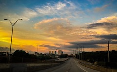 Evening Drive into the City (photo.po) Tags: highway cityscape fortworthtx tx clouds sunset
