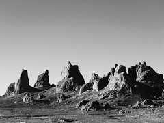 Trona Pinnacles #7 (jimsawthat) Tags: blackandwhite geology erosion hoodoos rural ridgecrest california tronapinnacles highdesert