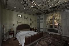 I need a good nights sleep (Kriegaffe 9) Tags: bedroom bed decay window photographs memories