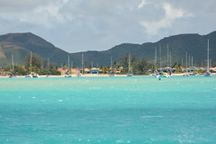 Catamarans and blue water. (vbvacruiser) Tags: caribbean cruise vacation silversea silverwind catamaran beach antigua jollyharbor
