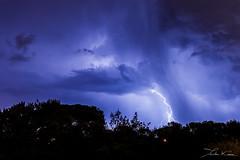 Provenal Lights I. (Tristan K.) Tags: clair lightning thunder tonnerre orage storm weather tempest tempte clouds nuages sky ciel flash shadow ombres night nuit nocturne roquebrunesurargens rocherderoquebrune lights