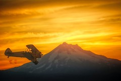Sunset Landing (gr8fulted54) Tags: tonemapped hdr photomatix on1 noiseless nikon d7100 airplane mountain