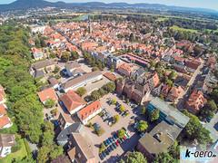 YUN00073 (daniel kuhne) Tags: luftbild luftaufnahme rinteln weserstadt innenstadt parkplatz rathaus museum eulenburg panorama yuneecq5004k dng raw