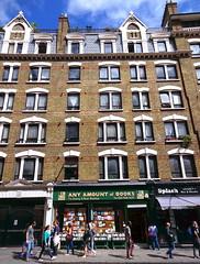 Any Amount of Books (Snapshooter46) Tags: london architecture charingcrossroad apartments brickbuilding multistory yellowbrick londonstocks bookshop anyamountofbooks pedestrians 1884