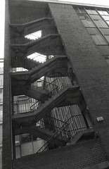 Stairs - black and white (rbjag71) Tags: stairs fireescape glasgow urban city blackandwhite