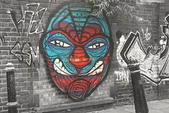 Mask (nigelphillips) Tags: graffiti spraypaint london eastend urbanart uk