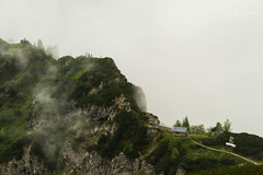 Fog in the montains (Sofia Jernimo) Tags: 2016 alps austria border europe fog germany green happy house montain nature spring travel weekend