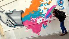 une pluie de couleurs (YOUGUIE) Tags: paris streetart graff graffiti zabou parapluie couleurs peinture