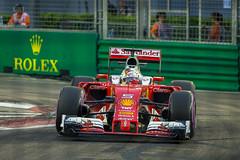 Sebastian Vettel (BP Chua) Tags: ferrari scuderia sebastianvettel vettel race grandprix singaporegp singapore rolex photographer photography red f1 formula1 formulaone f1nightrace shell 5 canon 1dx 200mm motorsport sport vehicle car