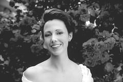 un fiore tra i fiori (fromsunrisetosunset) Tags: bn blackandwhite portrait girl girlportrait woman wedding flowers beautiful beauty bw canon canon5d