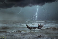 sea lightning (vy.vy) Tags: seascape clouds waves water light nature outdoor sky boat