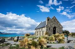 Most famous picture at Lake Tekapo (stove007) Tags: newzealand laketekapo nature roadtrip tekapo canterbury