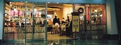 ... (june1777) Tags: snap street seoul gangnam samseongdong coex night light cafe window starbucks mamiya rz 67 rz67 z 65mm f4 fuji pro 400 h 400h pro400h