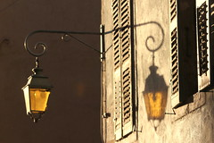 Light and shadow (Croix-roussien) Tags: lanterne light shadow urban france annecy street ombre yellow