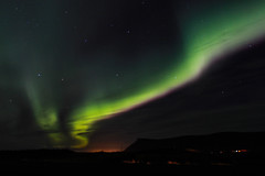 Lights (ibryndis1) Tags: northen lights iceland green pink sky night evening shadow light cloud colour colors love travellingisforever