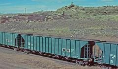 IPLX 100 all steel coal hopper-Hermosa, Wyoming. (Wheatking2011) Tags: iplx indianapolis power light company all steel coal hopper union pacific railroad hermosa wyoming 35mm slide converted digital image