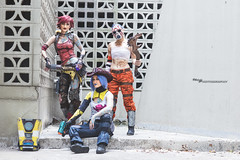Welcome to the Borderlands (Ngo_Photography) Tags: borderlands borderlands2 gearbox cel shading lilith maya psycho claptrap inkfall bl2 cosplay dragon con convention dragoncon dragoncon2016