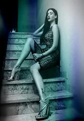 IMG_6213 (Tammy Rinaldi Model) Tags: bw splash stairs scala woman legs lacedress smokey dark brunette sultry exotic highheels curves noir model muse lips blue canonphotography fashion glamour moda style italy elegant labellafigura sensual stilo edgy monochrome