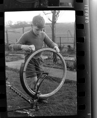IMG_2260 (zaphad1) Tags: old unknown negaitives slides crail 1960 sixties 1960s 60s creative commons bike bicycle trike tricycle raleigh scotland scots scottish history historical local negs negatives zaphad1