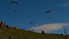 Anna, Shaun and Jordan (overflow50) Tags: paragliding paraglider canberra springhill spring australia sky clouds