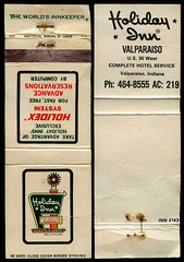 Holiday Inn in Valparaiso, Indiana - Matchcover (Shook Photos) Tags: match matches matchbook matchbooks matchcover matchcovers smoking advertisement advertising promotion promotional holidayinn inn hotel valparaisoindiana valparaiso indiana portercounty