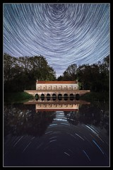 Schuivenhuisje Startrails (MartinFechtner-Photography) Tags: sky water reflection night stars longexposure polar milkyway rotation nacht nightphotography kanal nightscape pol sterne sternspuren nordhorn denekamp almelo canon eos 6d tamron1530mm schuivenhuisje