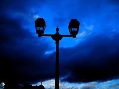 Dark Streetlights (MarkRosauer) Tags: streetlights darkclouds hokkaido japan