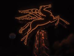 Pegasus over Dallas (keith_shuley) Tags: pegasus dallas downtown texas mobil magnolia red olympusomdem1