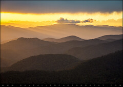 Blue Ridge Parkway Sunset - Appalachian Gold (Dave Allen Photography) Tags: blue light sunset sunlight mountains nature landscape outdoors nationalpark nc ray scenic northcarolina ridge parkway rays smoky peaks smokies appalachia beams blueridgeparkway goldenhour crepuscularrays ridges daveallen lightrays crepuscular valleys greatsmokymountains raysoflight appalachians wnc carolinas gsmnp brp westernnc mygearandme mygearandmepremium mygearandmebronze mygearandmesilver mygearandmegold mygearandmeplatinum mygearandmediamond