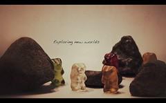 Exploring new worlds (Paddyllac) Tags: light wallpaper mars moon blur art colors beautiful stone square photography nikon rocks flickr pretty stones background gummibears gummibrchen exploring explorer squareformat worlds planet nikkor dslr hiding exploration haribo photostream goldbren d5100 nikond5100 paddyllac