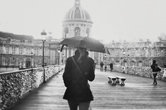 December in Paris (L e t i) Tags: winter paris girl rain blackwhite december pioggia parigi
