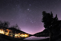 Geminids Fisheye (Michael Kline) Tags: stars december fisheye blueridgeparkway 2012 sharptop meteorshower