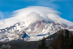 Topping Off Shasta (jeandayphotography.com) Tags: california ca november trees winter usa snow mountains color clouds landscape norcal mtshasta cascaderange 2011 specland jeanday