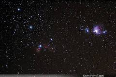 Orion Widefield (kevin-palmer) Tags: winter sky night stars colorful december space cluster stack flame nebula astrophotography orion m42 astronomy ngc2024 ic434 horsehead constellation pentaxkx runningman m43 ngc1977 orionsbelt m78 deepskystacker takumar135mmf25 ngc1981 astrometrydotnet:status=solved astrometrydotnet:version=14400 astrometrydotnet:id=alpha20121240430722