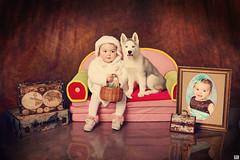 : , , ,, ,    ! (MissSmile) Tags: dog pet baby cute girl illustration puppy studio kid toddler child artistic creative 1year props misssmile