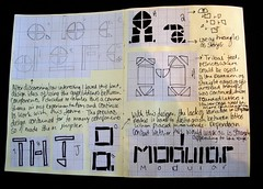 Sketchbook example -developing type ideas (LucyDenning2012) Tags: typefacedesign sketchbookpages